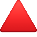 Red Triangle Pointed Up on Facebook 13.1