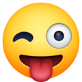 Winking Face with Tongue on Facebook 13.1