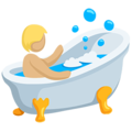 Person Taking Bath: Medium-Light Skin Tone on Messenger 1.0