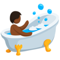 Person Taking Bath: Medium-Dark Skin Tone on Messenger 1.0
