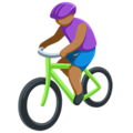 Person Biking: Medium Skin Tone on Messenger 1.0
