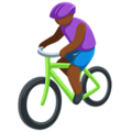 Person Biking: Medium-Dark Skin Tone on Messenger 1.0