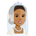 Bride With Veil: Medium Skin Tone on Messenger 1.0