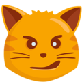 Cat with Wry Smile on Messenger 1.0