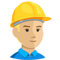 Construction Worker: Medium-Light Skin Tone on Messenger 1.0