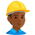 Construction Worker: Medium-Dark Skin Tone on Messenger 1.0