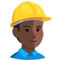 Construction Worker: Dark Skin Tone on Messenger 1.0