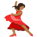 Woman Dancing: Medium Skin Tone on Messenger 1.0