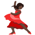 Woman Dancing: Dark Skin Tone on Messenger 1.0