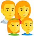 Family: Man, Woman, Girl, Boy on Messenger 1.0