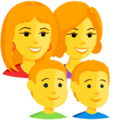 Family: Woman, Woman, Boy, Boy on Messenger 1.0