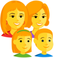 Family: Woman, Woman, Girl, Boy on Messenger 1.0