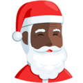 Santa Claus: Dark Skin Tone on Messenger 1.0