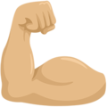 Flexed Biceps: Medium-Light Skin Tone on Messenger 1.0