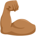 Flexed Biceps: Medium Skin Tone on Messenger 1.0