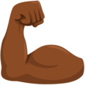Flexed Biceps: Medium-Dark Skin Tone on Messenger 1.0