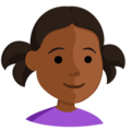 Girl: Medium-Dark Skin Tone on Messenger 1.0