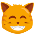 Grinning Cat with Smiling Eyes on Messenger 1.0