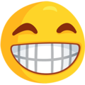 Beaming Face With Smiling Eyes on Messenger 1.0