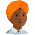 Person Wearing Turban: Medium-Dark Skin Tone on Messenger 1.0