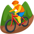 Person Mountain Biking on Messenger 1.0