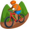 Person Mountain Biking: Medium Skin Tone on Messenger 1.0