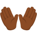 Open Hands: Medium-Dark Skin Tone on Messenger 1.0