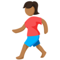 Person Walking: Medium Skin Tone on Messenger 1.0