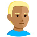 Person: Medium Skin Tone, Blond Hair on Messenger 1.0