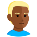 Blond-Haired Person: Medium-Dark Skin Tone on Messenger 1.0