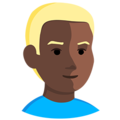 Person: Dark Skin Tone, Blond Hair on Messenger 1.0
