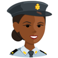 Police Officer: Medium-Dark Skin Tone on Messenger 1.0