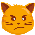 Pouting Cat Face on Messenger 1.0
