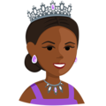 Princess: Medium-Dark Skin Tone on Messenger 1.0
