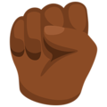Raised Fist: Medium-Dark Skin Tone on Messenger 1.0