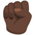 Raised Fist: Dark Skin Tone on Messenger 1.0