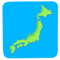 Map of Japan on Messenger 1.0