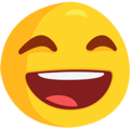 Grinning Face With Smiling Eyes on Messenger 1.0