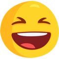 Grinning Squinting Face on Messenger 1.0