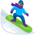 Snowboarder: Medium-Dark Skin Tone on Messenger 1.0