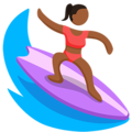 Person Surfing: Medium-Dark Skin Tone on Messenger 1.0