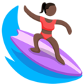 Person Surfing: Dark Skin Tone on Messenger 1.0