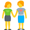 Two Women Holding Hands on Messenger 1.0