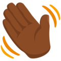 Waving Hand: Medium-Dark Skin Tone on Messenger 1.0