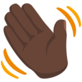 Waving Hand: Dark Skin Tone on Messenger 1.0
