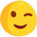 Winking Face on Messenger 1.0