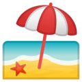 Beach With Umbrella on Google Android 9.0