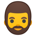 Man: Beard on Google Android 9.0