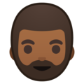 Man: Medium-Dark Skin Tone, Beard on Google Android 9.0
