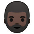 Bearded Person: Dark Skin Tone on Google Android 9.0